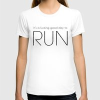 run T-shirts featuring RUN by Adel