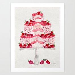 Strawberry Shortcake Art Print