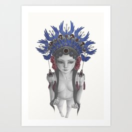 The Girl in the Chinese Opera Phenix Coronet Art Print