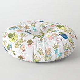 Happy house plants shower curtain Floor Pillow