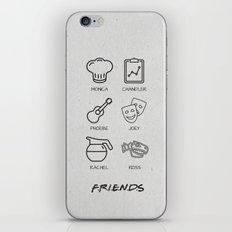 Friends Minimalist Poster iPhone & iPod Skin