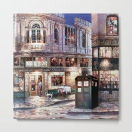Tardis in The Old Town Metal Print