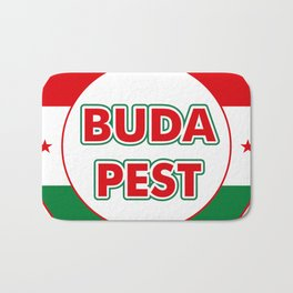 Budapest, circle, color Bath Mat