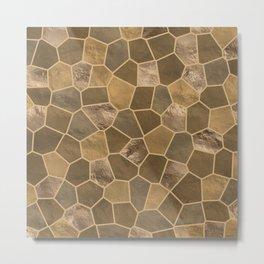 Mosaic Pattern - Gold #1 Metal Print