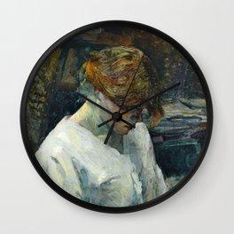 """Henri de Toulouse-Lautrec """"La Rousse in a White Blouse"""" Wall Clock"""