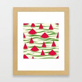 Juicy slices of watermelon Framed Art Print