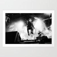 gorillaz Art Prints featuring Damon Albarn (Blur) - I by Tomás Correa Arce (RockMe TommyBoy)