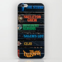 Stephen King Well-Worn Paperbacks iPhone Skin