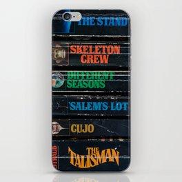 Stephen King Well-Worn Paperbacks iPhone Skin