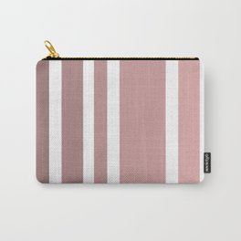 Striped Ombre in Vintage Pink Carry-All Pouch