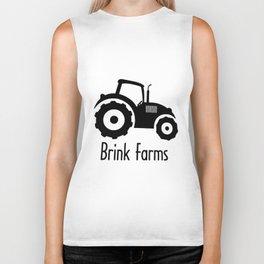 Baby TRACTOR FARM personalized boy or girl bodysuit creeper farm tee cow Biker Tank