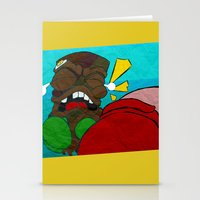 boxing Stationery Cards featuring Tiki Boxing by TEMOANA