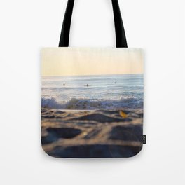 Surfers in the Morning Light Tote Bag