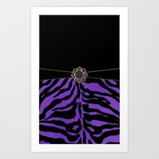 Purple Zebra Background Art Print