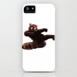 Red Panda Kick iPhone Case
