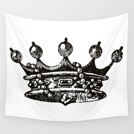Royal Crown   Vintage Crown   Black and White   Wall Tapestry