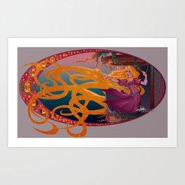 Rapunzel - Tangled Art Print