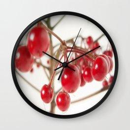 Scarlet Berry  Wall Clock