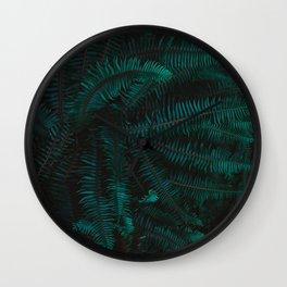 Blue Fern Twilight Wall Clock