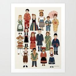 Internatonal Kids Art Print