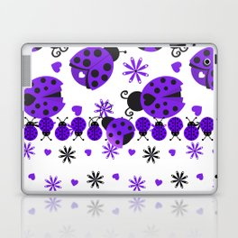 Cute Ladybugs Purple Laptop & iPad Skin