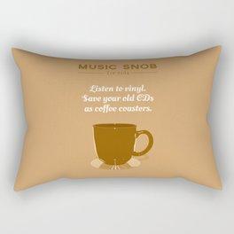 Coffee Coasters — Music Snob Tip #184 Rectangular Pillow