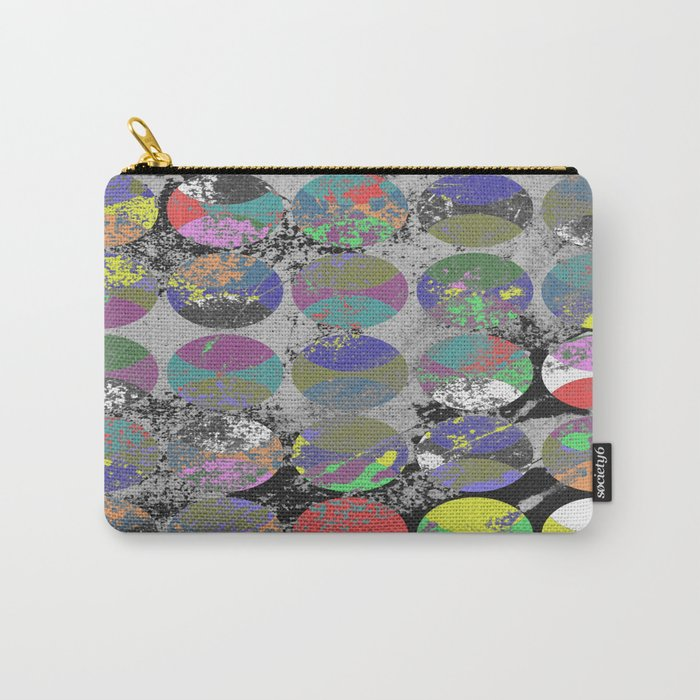 Pastel Passion - Geometric, textured artwork Carry-All Pouch