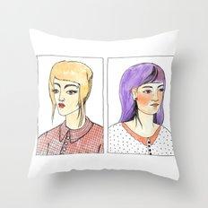 Fancy hair pair Throw Pillow