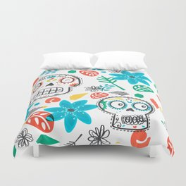 Summer sugar skulls Duvet Cover