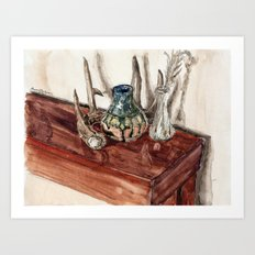 glaze and antler Art Print