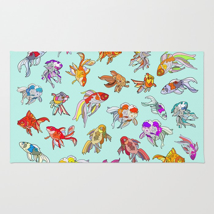 Aquarium Gold Fish Water Rug