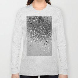 Soft Silver Gray Glitter #1 (Faux Glitter - Photography) #shiny #decor #art #society6 Long Sleeve T-shirt