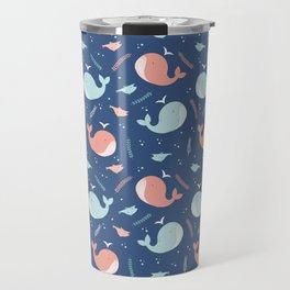Sea whales pattern Travel Mug