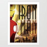 ironman Art Prints featuring Ironman by FreeBoy