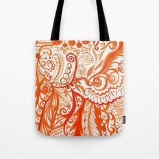 orange brushstroke Tote Bag