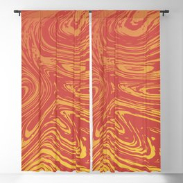 Red marble pattern with golden tint Blackout Curtain