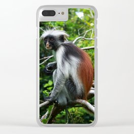 Red Colobus Monkey Clear iPhone Case