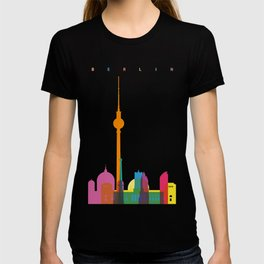 Shapes of Berlin accurate to scale T-shirt