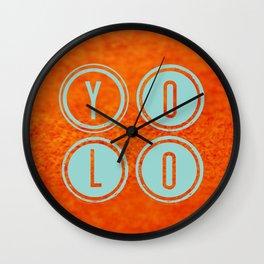 YOLO Light Blue Wall Clock