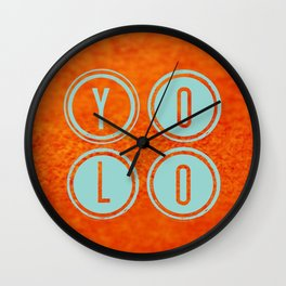 YOLO Light Blue Wall Clock