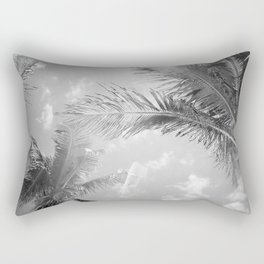 Palm Leafs (Black and White) Rectangular Pillow