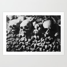 Catacombes Art Print