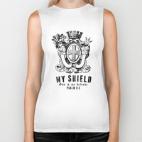 agents of shield Biker Tanks featuring Shield by J Evan