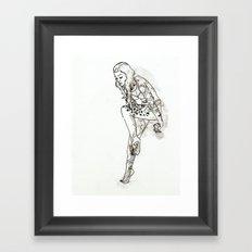 Tattooed Lady Framed Art Print