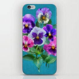 Bouquet of violets I iPhone Skin