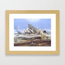 The Sea of Ice - Caspar David Friedrich Framed Art Print