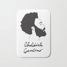 Childish Gambino - Minimalist profile portrait Bath Mat