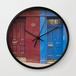 Red or blue ?  Greyfriars Edinburgh Scotland city Wall Clock