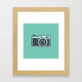 Camera Illustration Framed Art Print