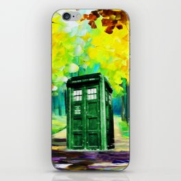 PAINTING TARDIS iPhone Skin